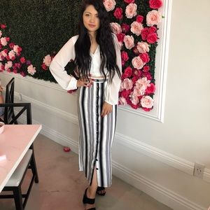 F21 Striped long Skirt